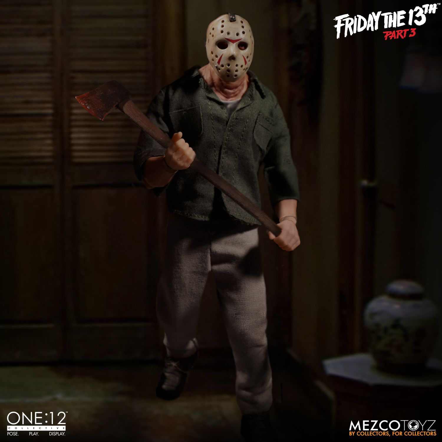 One:12 Friday the 13th Part 3 Jason Voorhees Mezco Toyz Figure Collective CHOP